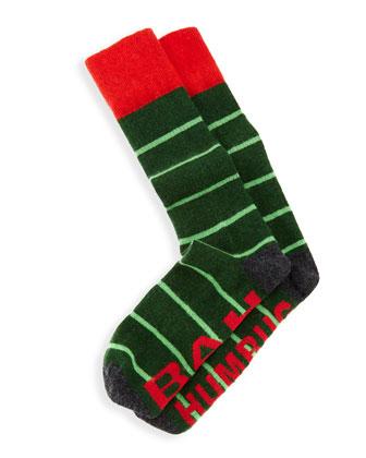 Bah Humbug Men's Socks, Green