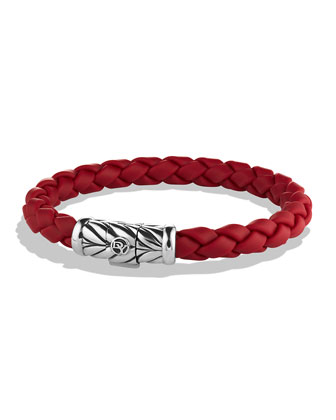 Chevron Bracelet in Red