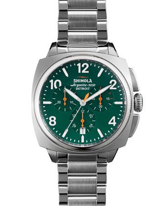 40mm Brakeman Chronograph Watch, Green