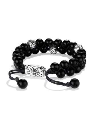 Spiritual Beads Two-Row Bracelet with Black Onyx