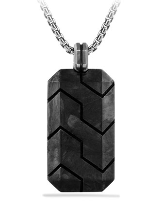 Forged Carbon Tag Necklace