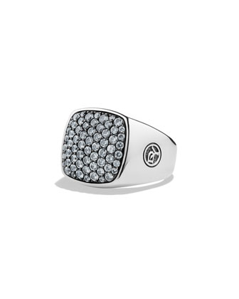Men's Pave Top Signet Ring