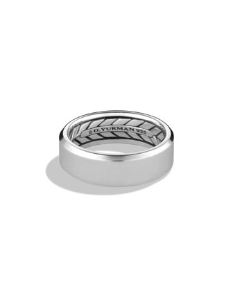 Men's Beveled Edge Band Ring
