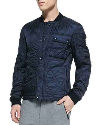 Fuller Nylon Quilted Jacket, Navy