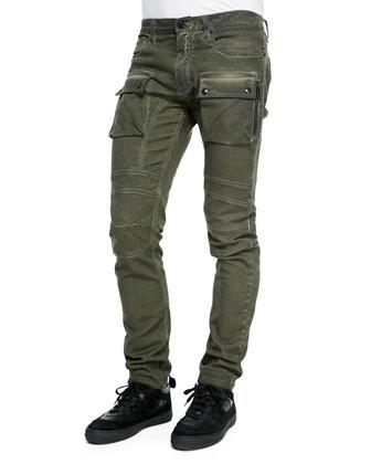 Felmore Slim-Fit Moto Cargo Jeans
