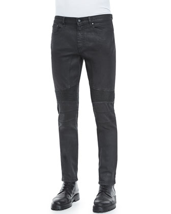 Eastham Treated Wash Stretch Jeans, Black