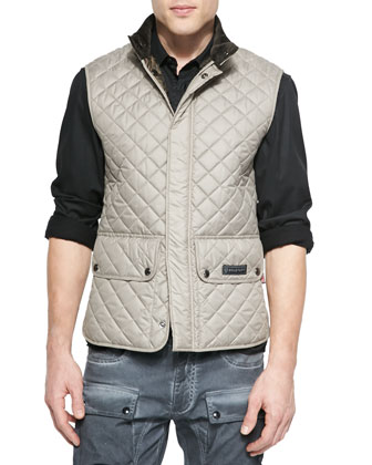Lightweight Quilted Tech Vest, Oyster