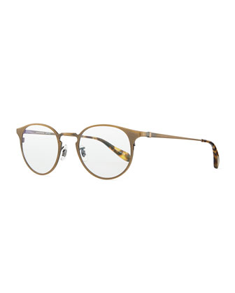 Wildman Men's Round Fashion Glasses, Aged Gold