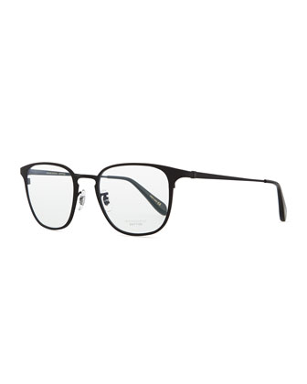 Pressman Square Titanium Fashion Glasses, Matte Black