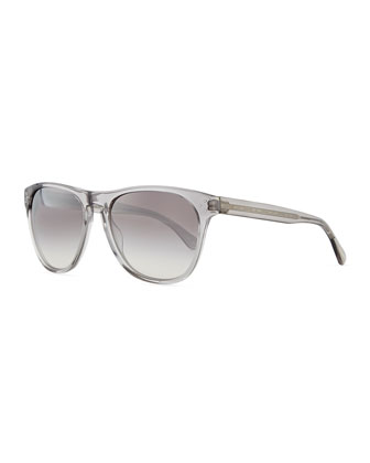 Daddy B Men's Clear Acetate Sunglasses, Workman Gray