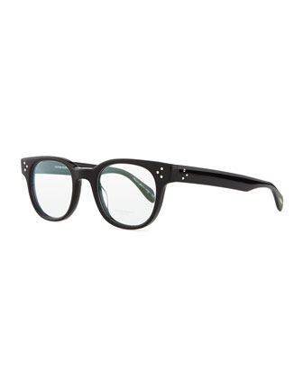 Afton Acetate Men's Fashion Glasses, Black