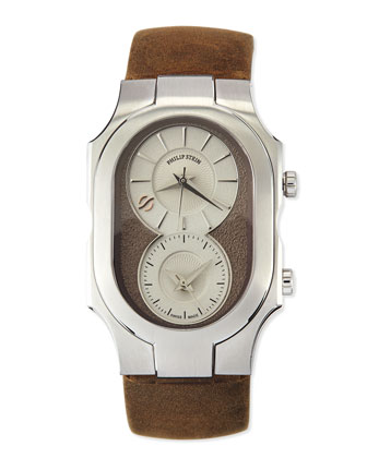 Signature Analog Watch, Brown