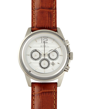 Orchestra Leather-Strap Watch, Brown
