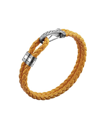Classic Chain Hook-Station Bracelet, Orange