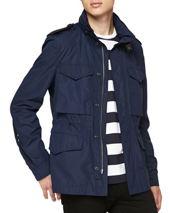Lightweight Zip-Front Field Jacket