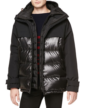 Seam-Sealed Weather-Resistant Puffer Jacket, Black
