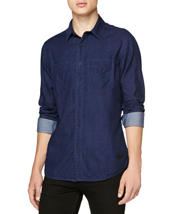 Double-Face Denim Pocket Shirt
