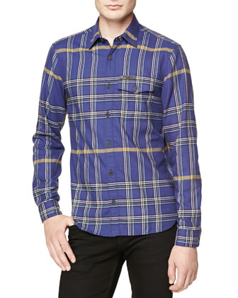 Lightweight Plaid Flannel Shirt