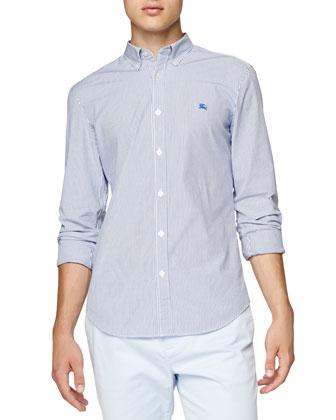Striped Oxford Shirt, Blue