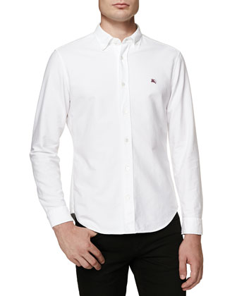 Equestrian Knight Oxford Shirt, White