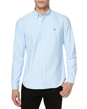 Equestrian Knight Oxford Shirt, Light Blue