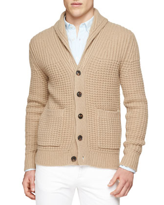 Shawl Collar Chunky-Knit Cardigan