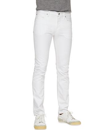 Skinny Denim Jeans, White