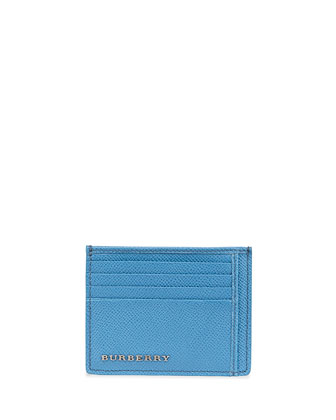 London Leather Bernie Card Case, Airforce Blue