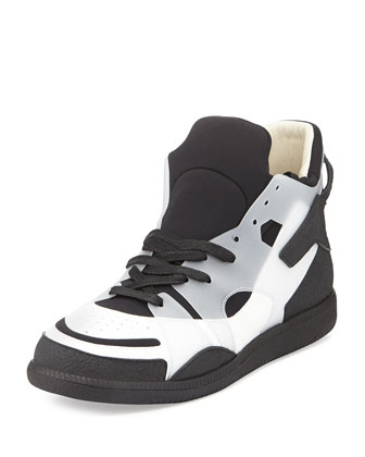 Neo High-Top Sneakers, Black/White