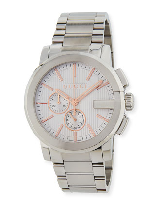 G-Chrono XL Watch, Silver