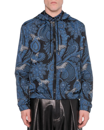 Paisley-Print Hooded Jacket, Paisley-Print Button-Down Shirt & Pleated ...