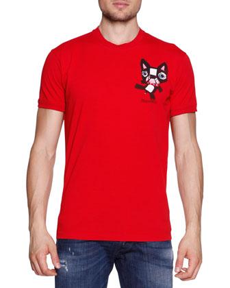 Bulldog Short-Sleeve Tee, Red
