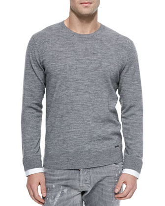 Crewneck Heather Sweater