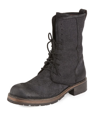 Gibbons Tall Lace-Up Boot, Black