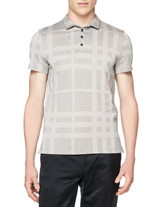 Short-Sleeve Check Polo
