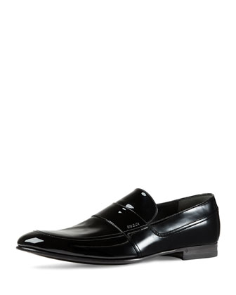 Patent Leather Loafer, Black