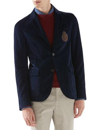 Fine Corduroy Schoolboy Jacket, Duke Shirt with Web Detail, Cashmere ...