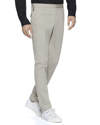 Stretch-Gabardine Riding Pants