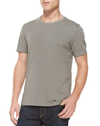 Short-Sleeve Perfect Jersey Tee, Olive