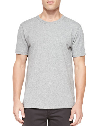 Short-Sleeve Perfect Jersey Tee, Gray