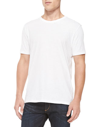 Short-Sleeve Perfect Jersey Tee, White