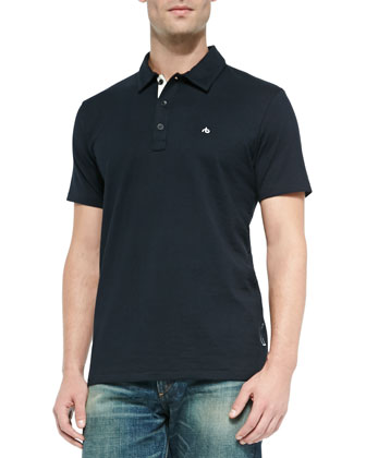 Standard Issue Short-Sleeve Polo, Navy