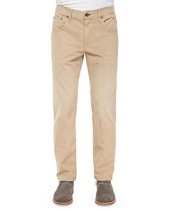 Relaxed Five-Pocket Trousers, Khaki