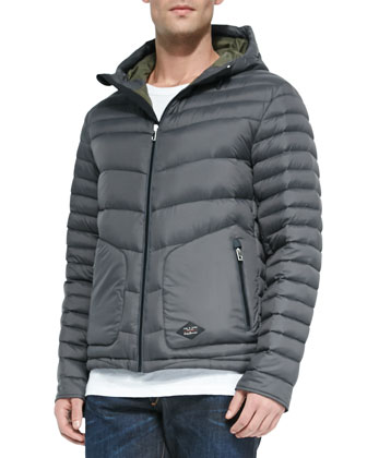 Meriwether Hooded Puffer Coat, Charcoal