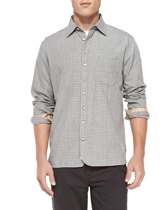 3/4-Placket Check Shirt & Four-Pocket Relaxed Trousers