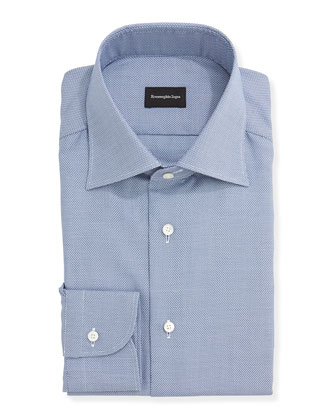 Textured Oxford Dress Shirt, Navy