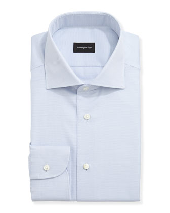 Textured Oxford Dress Shirt, Blue