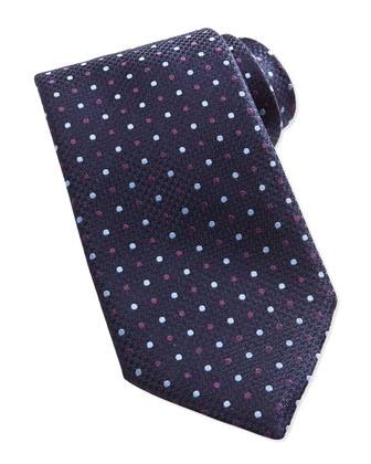 Woven Multi Color Dot Tie