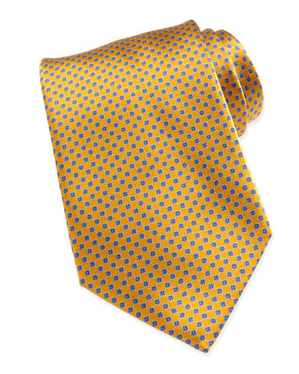 Micro Box Neat Silk Tie, Yellow