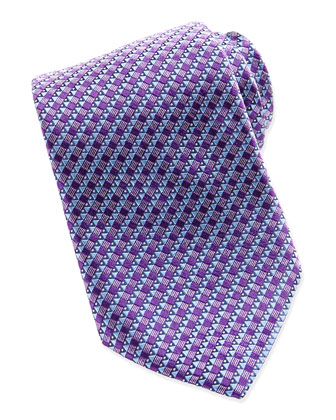 House Micro-Neat Tie, Purple